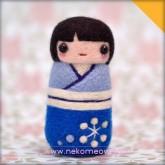 Wool felt Kokeshi・羊毛毡鸣子娃娃・Koyuki 小雪